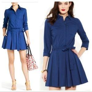 Diane von Furstenberg Navy Montana Shirt Dress